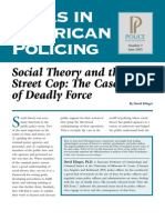 Klinger (2005) - Social Theory and the Street Cop