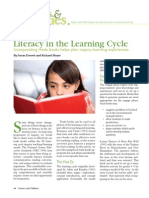 Lliteracy in the Learning Cycle