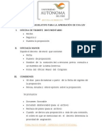 PROCEDIMIENTO LEGISLATIVO PARA LA APROBACIÓN DE UNA LEY