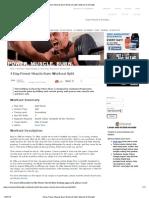 4 Day Power Muscle Burn Workout Split