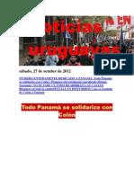 Noticias Uruguayas sábado 27 de octubre del 2012