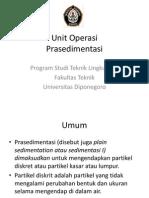 Unit Operasi Prasedimentasi
