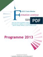 Programme National Croix Marine 2013