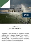 Irrigation Engineering Unit i