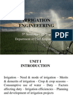 Irrigation Engineering Unit i