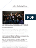 Open Letter to Indian Graduates