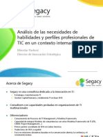 Análisis de las necesidades de habilidades y perfiles profesionales de TIC  en un contexto internacional