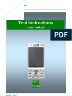 Sony Ericsson W705 W715 Test Instruction - Mechanical Rev1