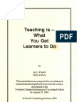 Teaching is What You Get Learners to Do