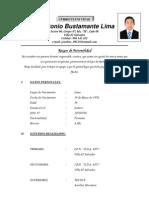 CURRICULUM VITAE Jose Antonio Bustamante Lima