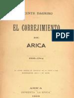 Vicente Dagnino - El Corregimiento de Arica