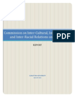 Carleton University's Commission on Inter-Cultural, Inter-Religious and Inter-Racial Relations on Campus Report - August 2012