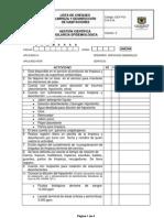 GCF FO 315 016 Lista de Chequeo Limpieza y Desinfeccion de Habitaciones