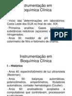 2 Aula Bioquímica Clínica - Instrumentação em Bioquímica Clínica