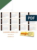 Calendario laboral 2013 COFAV