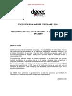 ENCUESTA PERMANENTE DE HOGARES 2009 - PRINCIPALES RESULTADOS DE POBREZA Y DISTRIBUCION DEL INGRESO - PORTALGUARANI
