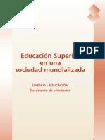 Educación superior en una sociedad mundializada