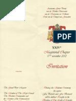 Invite Magisterial Chapter-Belgium