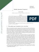 Reliable Quantum Computers - 9705031v3