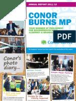Conor Burns MP - Annual Report 2011/12