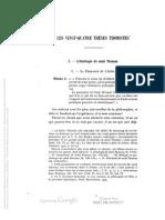 Hugon - Les Vingt-Quatre Theses Thomistes