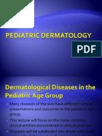 Pediatric Dermatology Lecture Handout