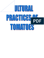 Environmental Preferences of TOMATOES