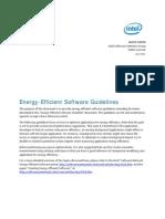 INTEL Energy Efficient Software Guidelines v3!4!10 11