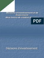 Decisions d Investissement Et de Financement