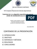 Viabilidad de la co-digestión anaeróbica de material celular de cianobacteria (Spirulina máxima)