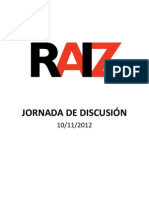 Presentación Jornada de Discusión de RAÍZ