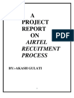 Recruitment Process in Airtel