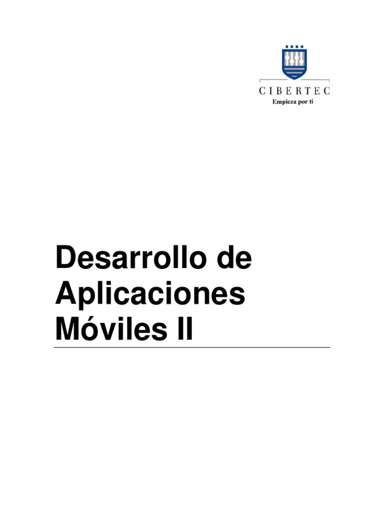 Manual 2011-II 06 Desarrollo de Aplicaciones Moviles II