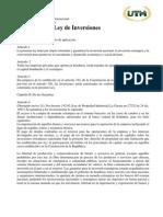 Leccion 4..Ley de Inversion Extranjera