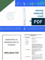 INVENTARIO DE PERSONALIDAD DE EYSENCK - EPQ ADULTOS