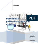 Laporan Sel Volta dan Elektrolisis
