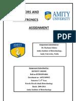 Biosensors and Bioelectronics Assignment