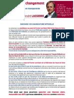 Lasserre Discours Candidature Officielle