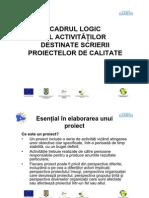 Cadrul Logic Al Activitatilor in Scrierea Proiectelor