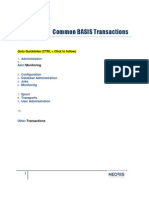 Common BASIS Transactions