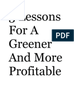 3 Lessons for a Greener and More Profitable Supply Chain