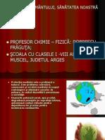 Fraguta Dobrescu_sănătatea Pământului, sănătatea noastră