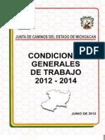 Condiciones Generales de Trabajo 2012