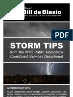 Storm Tips - Public Advocate Bill de Blasio