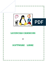 Licencias Commons y Software Libre