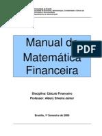 Manual de Calculo Financeiro - Aulas e Listas de Exercicios 1o Semestre-2009