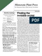 Spring 2006 Minnesota Plant Press ~ Minnesota Native Plant Society Newsletter