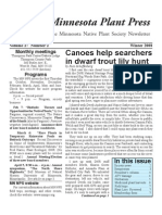 Winter 2008 Minnesota Plant Press ~ Minnesota Native Plant Society Newsletter