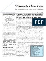 Spring 2009 Minnesota Plant Press ~ Minnesota Native Plant Society Newsletter