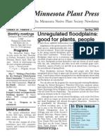 Spring 2009 Minnesota Plant Press ~ Minnesota Native Plant Society Newsletter